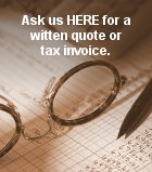 Just ask us if you want a special quote or tax invoice!