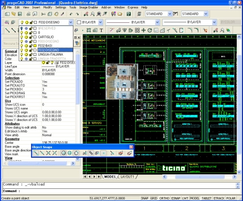 Click to view progeCAD Standard IntelliCAD Software 2011 screenshot