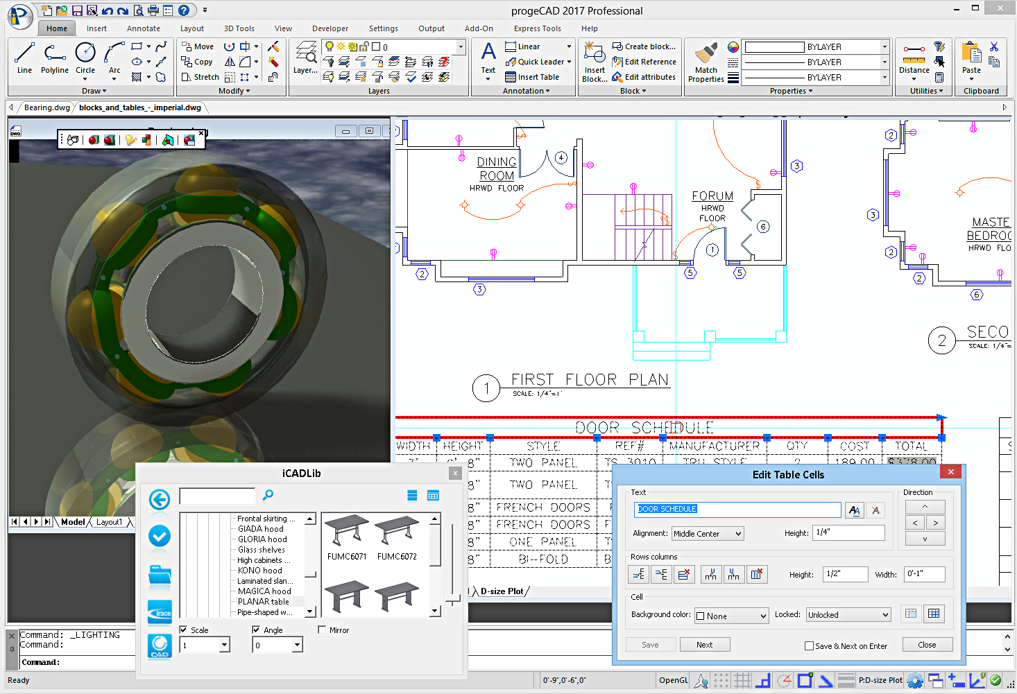 Progecad 2018 professional cad software 18 0 2 8 free for Online cad drawing software