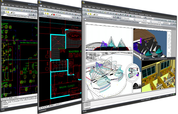 progeCAD 2016 Professional CAD Software Screen shot